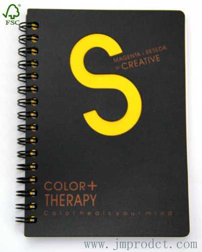 colour therapy fancy spiral notebook with hollow S