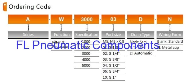 AW3000-03 Air Filters Regulators Combination