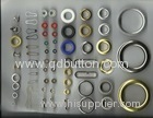 12mm environmental protection silver brass material eyelets