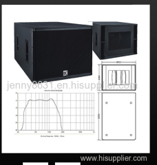 CVR hot sale dual 18inch subwoofer with bass horn loaded
