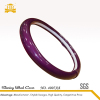 Car accessories PU reflective leather purple steering wheel cover