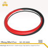 Black and red car soft steering wheel cover