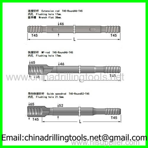 T45 Male-female drilling rod
