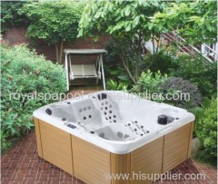small outdoor spa tub