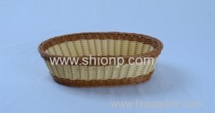 oval rattan bread basket for hotel