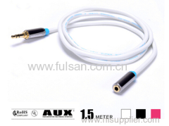 High Quality 3.5mm 4 pole 3.5mm M/F Extension Cable 1.5M/6FT
