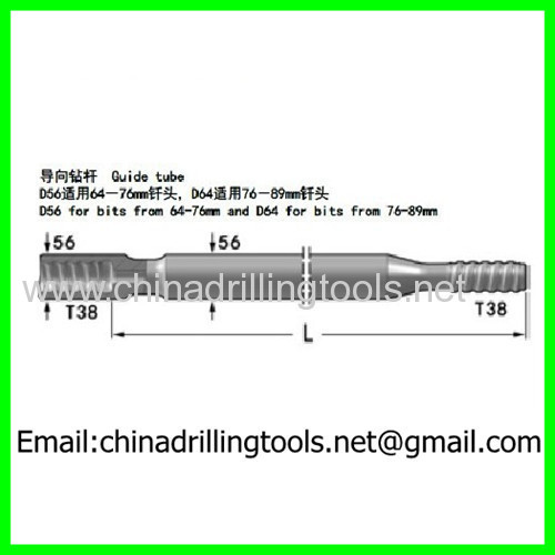 customized T38 guide rod