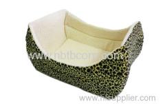 short fleece boat shape pet bed for dog