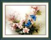 3D Blue butterfly cross stitch