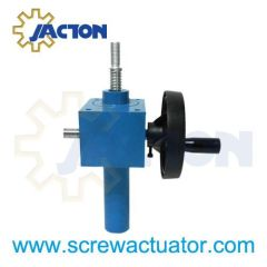 hand screw jack wheel, screw jack manual lift assembly, manual screw jack lift, gear wheels manual hand jack