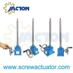 handwheel operated jack screws, short manual screw jacks, manual worm gear screw jack