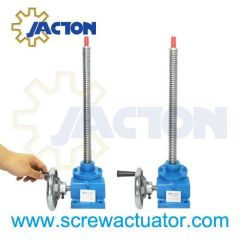 manual jacks, manual worm gear jack, manual machine screw jack, manual lead screw jack