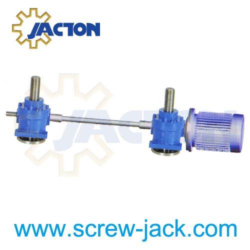 Lifting Arrangement For A Platform Using Screw Jack Motor