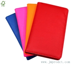 pure color leather note diary in pocket
