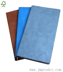 ruled pure color leather diary notebook with FSC approve