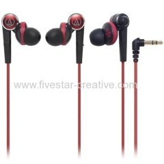 Audio Technica Inner Ear Sound Isolating Headphones ATH-CKS90 Red with Black
