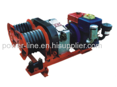 3 ton double bull wheel HONDA Gasoline engine winch