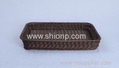 rectangular rattan bread basket for hotel