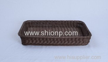 rectangular rattan bread baskets for hotel