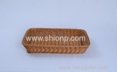 Fashion rectangular rattan bread basket