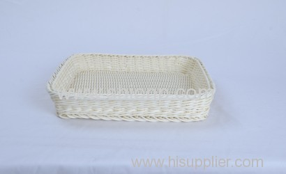 Fashion square rattan bread basket