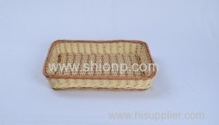 Fashion square rattan bread baskets