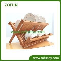 Bamboo convenient dish rack