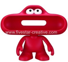 Beats by Dr. Dre Red Pill Dude Character Holder Beats Pill Dude Stand for Portable Speaker