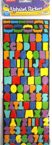 cute alphabet sticker for age 3 and up