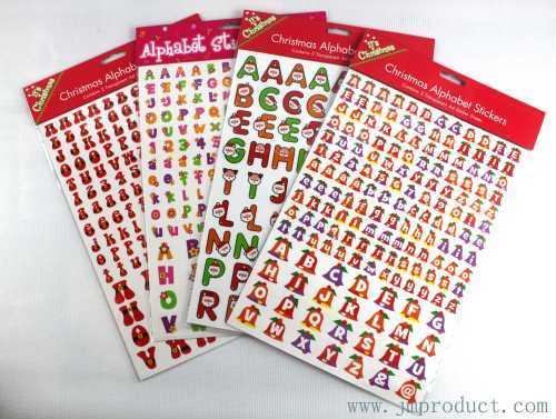 A4 Christmas alphabet sticker