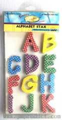 alphabet stax sticker printed stars