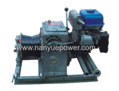 Gasoline Engine Powered Cable Pulling Winch Machine for overhead power transmission and distribution lines installations