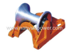 Aluminum Cable Ground Roller Stringing Cable Roller Stringing Wire Rope Pulley Block for Underground Cable Installation