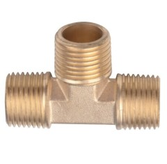Copper Male Screw Equal Tee Pipe Fittings