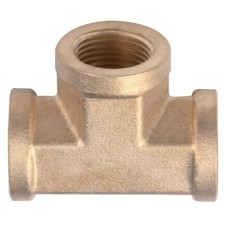 Copper Female Screw Equal Tee Pipe Fittings