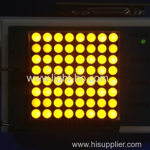 Pure white 1.26-inch 3mm 8 x 8 Dot Matrix LED Displays for lift position indicators and display screens