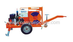 Cable puller machine for underground cable installation