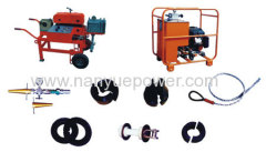 Fiber optic cable blower set machine