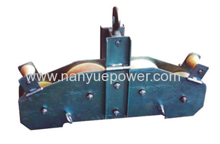 Double pulleys OPGW fiber optic cable replacement pulley block