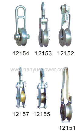 Hand line rope lifting pully block for lifting operation in line construction