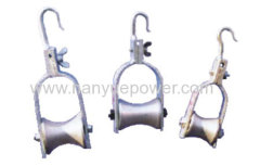 Ropeway method stringing aluminous cable pulley block wire stringing pulley block