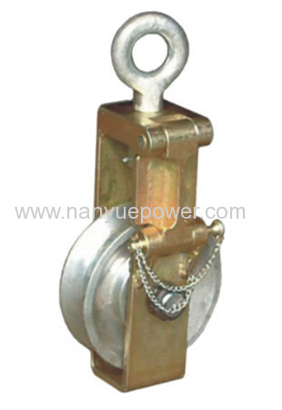 30 /50 /80KN single sheave sagging end wire rope pulley blocks ...