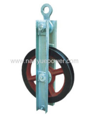 50~300KN High speed re-directional turning cable pulley block stringing wire rope pulley blocks