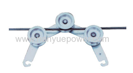 Hook Grounding Pulley Block used to eliminate or induced voltage line stringing operation