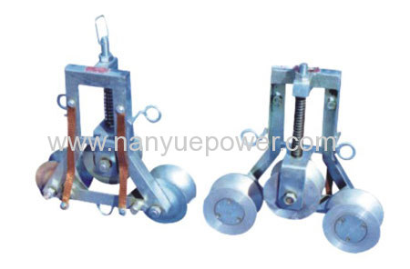 Special Type Grounding Pulley Block to eliminate induced voltage