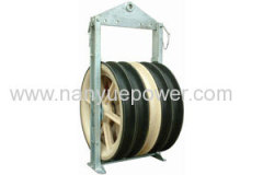 1040mm diameter overhead conductor transmission line stringing wire rope cable pulley blocks tension stringing equipment