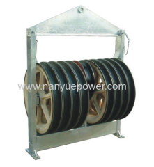 916mm large diameter transmission stringing wire rope cable pulley blocks overhead conductor tension stringing equipment