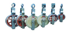 Earthwire universal stringing wire rope cable pulley block fittings electric power distribution line stringing equipment