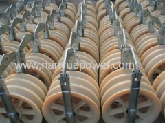 Helicopter stringing cable pulley blocks conductor tension stringing equipment 4 overhead transmission line construction