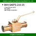 BKH high pressure hydraulic ball valve in SAE flange two way full bore dn25